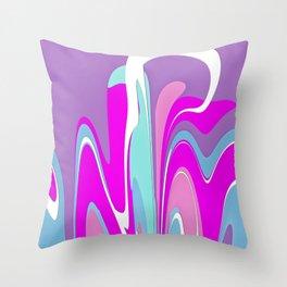 Pink Melody Throw Pillow