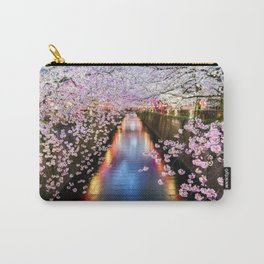 Cherry Blossom in pink   Japan Nakameguro River Carry-All Pouch
