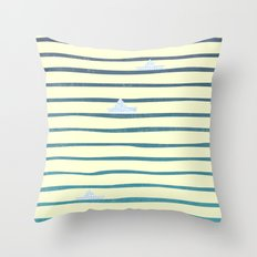 Origaboat light Throw Pillow