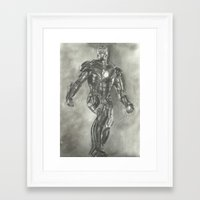 ironman Framed Art Prints featuring Ironman by Meliese Reid