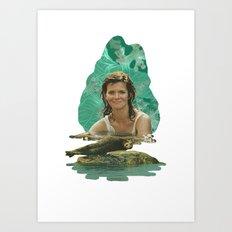 Seal Girl Art Print