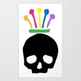 Jester/Crowed Skull Art Print