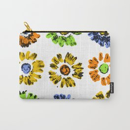 Flower Print Carry-All Pouch