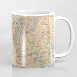 Vintage Map of The White Mountains (1881) Coffee Mug