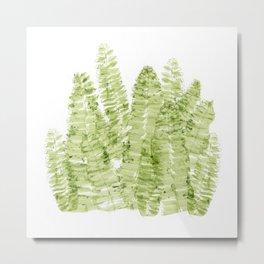 Fern Watercolor Metal Print