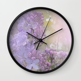 Lilacs Wall Clock