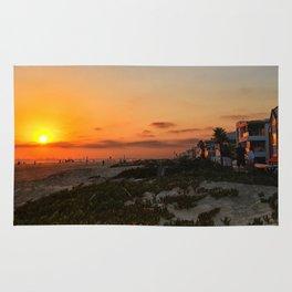 sunset beach CA Rug