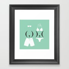 Body Copy Framed Art Print