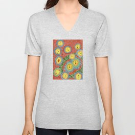 Splashes In Bubbles Unisex V-Neck