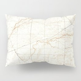 Kismet, CA from 1948 Vintage Map - High Quality Pillow Sham