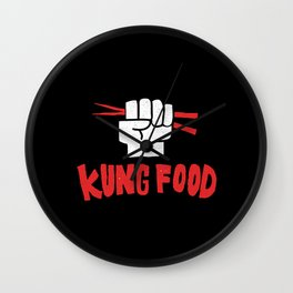 KUNG FOOD Wall Clock
