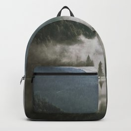Dreamlike Morning at the Lake - Nature Forest Mountain Photography Backpack