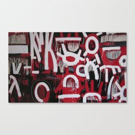 Red, White and Black Canvas Print