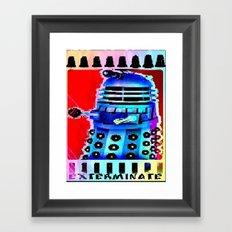 Dalek; Doctor Who; Exterminate Framed Art Print
