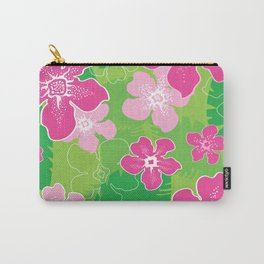 Pink and Green Hawaiian pattern Carry-All Pouch