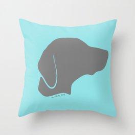 VIZSLA GREY ON BABY BLUE Throw Pillow