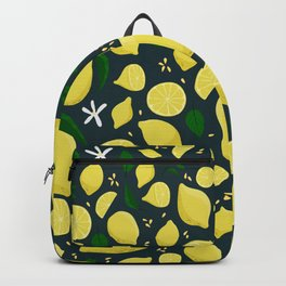 Lemons floral pattern Backpack