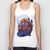 werewolf Tank Tops featuring Werewolf by Frankie Green