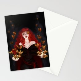 Isabella the red witch Stationery Cards