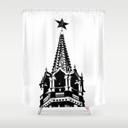 Kremlin Chimes-b&w Shower Curtain