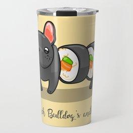 French bulldog maki sushi Travel Mug