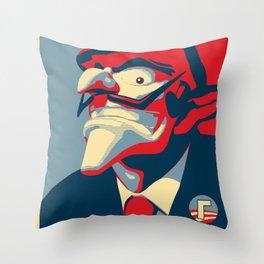 Waluigi for Smash Throw Pillow