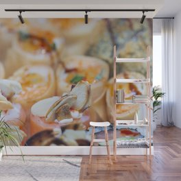 Fresh colorful sushi pieces II Wall Mural