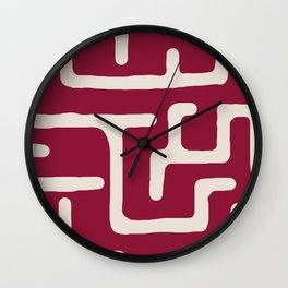 Kuba in oxblood Wall Clock
