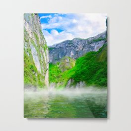 Morning Mists Inside Sumidero Canyon - Chiapas Mexico Metal Print