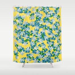 Summer Flowers Yellow Shower Curtain