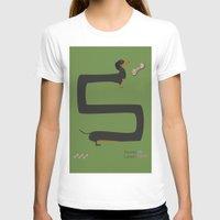 dachshund T-shirts featuring Dachshund by Yzabelle Wuthrich