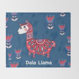 Dala Llama Throw Blanket