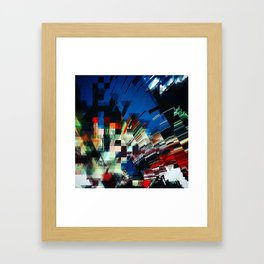 Digital Night Framed Art Print