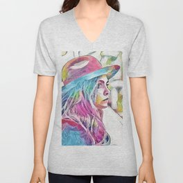 Cara Delevingne (Creative Illustration Art) Unisex V-Neck