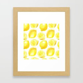 Lemons pattern design Framed Art Print