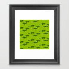 Alligators-Green Framed Art Print