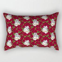 Heart and Roses Rectangular Pillow