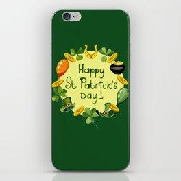 Happy St Patrick`s Day iPhone Skin