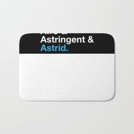 Astrid Names Bath Mat