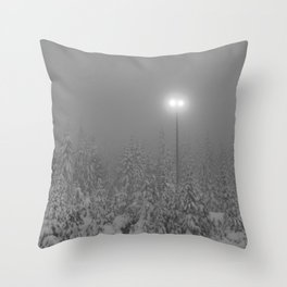 Dark day in the mountains Throw Pillow