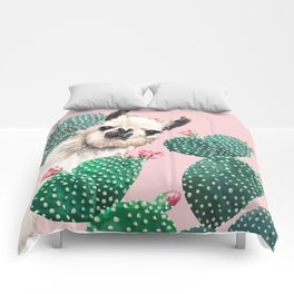 Llama and Cactus Pink Comforters