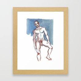 JEFFERY, Nude Male by Frank-Joseph Framed Art Print