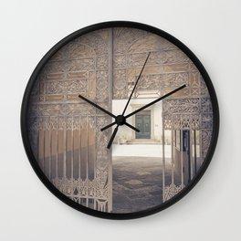 Door in Door Lucca italy tuscany Wall Clock