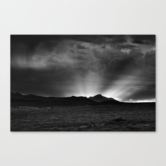 Sunlight Over the Colorado Rockies Canvas Print