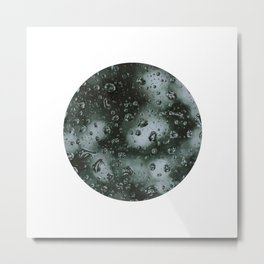 rain on glass - rainy moody Metal Print