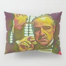 The Godfather Artistic Illustration Mafia Style Pillow Sham