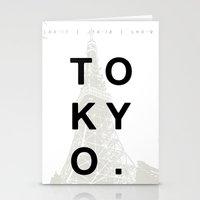 tokyo Stationery Cards featuring Tokyo. by Dean Yorimitsu