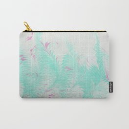 Light Blue Thistle Water Marbling Carry-All Pouch