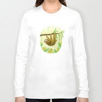 sloth Long Sleeve T-shirts featuring Sloth by Kirsten Sevig