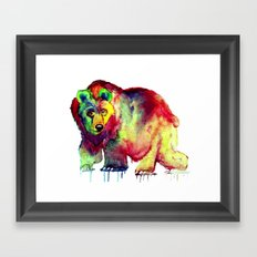 Coloured Bear Framed Art Print
